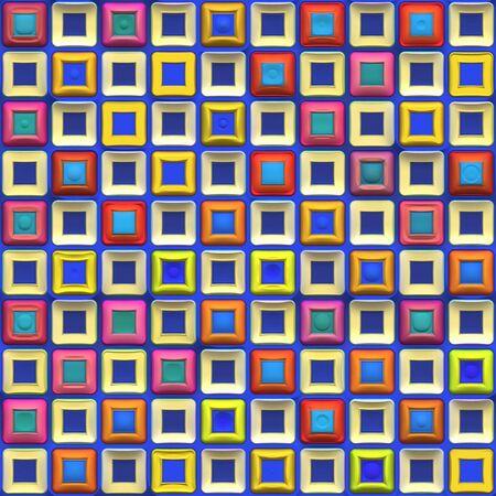 tegelwerk: Een regenboog gekleurde checkered pleinen textuur die tegels naadloos.