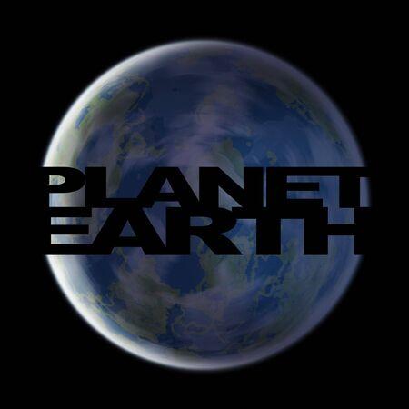 A 3d planet earth illustrations over a black background. illustration