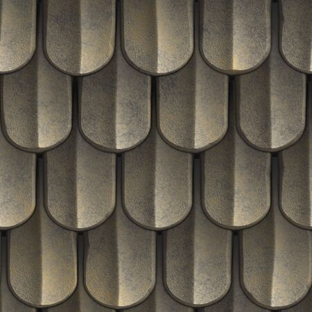 metallic background: A texture that looks like scales of armor or even tiled roof shingles. This image tiles seamlessly as a pattern.