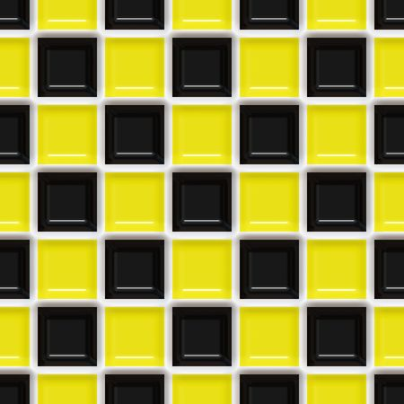 seamlessly: A yellow and black checkered squares texture that tiles seamlessly.