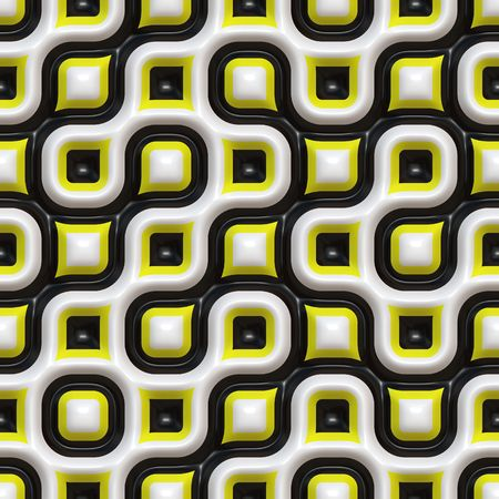 seamlessly: A yellow and black checkered texture that tiles seamlessly. Stock Photo