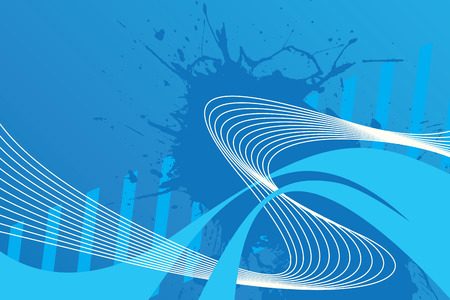 An abstract blue design with plenty of copyspace. This vector image makes a great background.