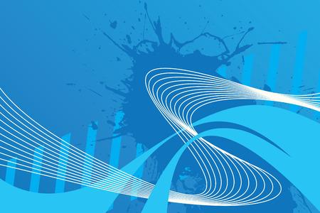 Een abstract blauw ontwerp met veel copyspace. Deze vector afbeelding maakt een groot achtergrond.