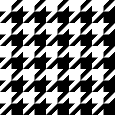 Trendy houndstooth patroon dat tegels naadloos als een patroon.
