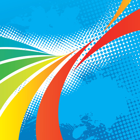 A colorful abstract design template with plenty of copyspace. This vector image makes a great background for any design.