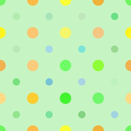 Multi colored dots pattern that tiles seamlessly in any direction.