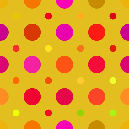 seamlessly: Multi colored dots pattern that tiles seamlessly in any direction.
