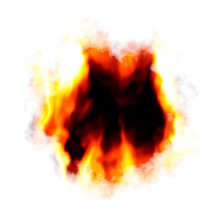 A fiery background with a hole burnt in the center.  Plenty of copyspace for your text. photo