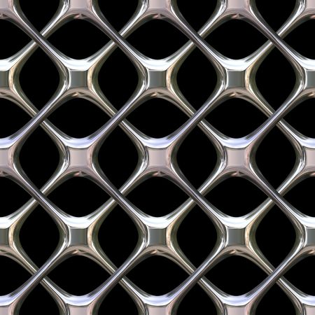 A shiny chrome grill background that tiles seamlessly as a pattern. photo
