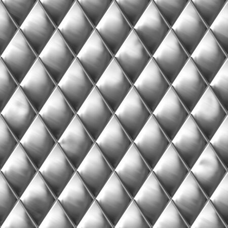 Diamond shaped metal texture that you might see on a hot dog cart. A very nice background for an industrial look. This tiles seamlessly as a pattern. Stock Photo - 5317763
