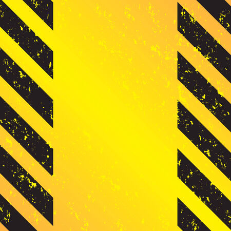 A grungy and worn hazard stripes texture.  This vector image is fully editable. Ilustração