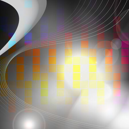 An abstract audio waveform background that easily adds style to any design. Stock Photo - 5431812