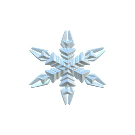 A 3d snowflake illustration isolated over white. Reklamní fotografie