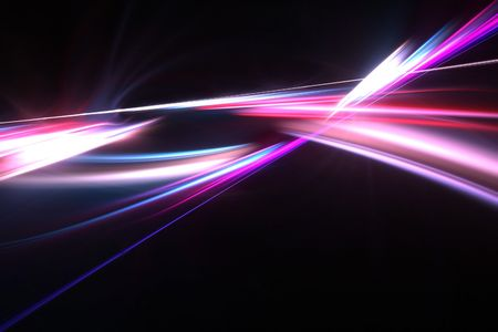 swooshes: A glowing fractal design with plasma swooshes that works great as a background or layout Stock Photo