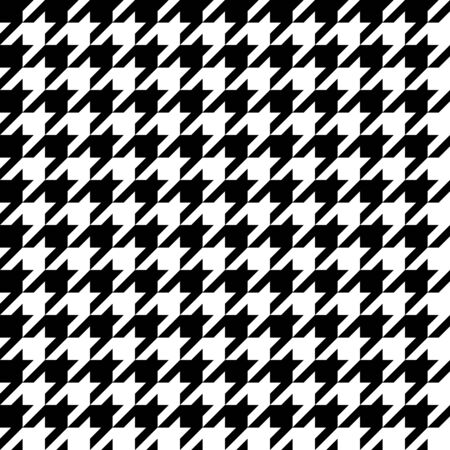 Trendy houndstooth pattern that tiles seamlessly as a pattern.  Illustration