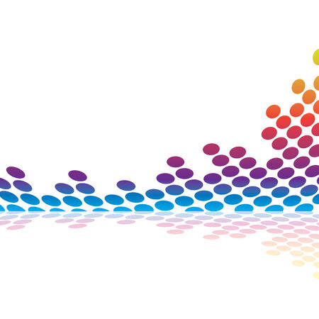 Abstract graphic equalizer or audio waveform illustration in vector format.