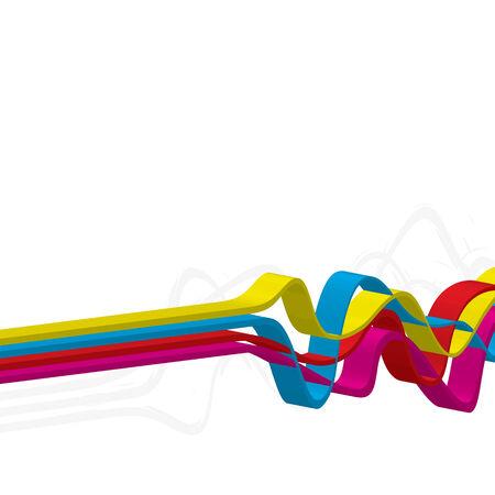 Resumen de diseño con líneas onduladas en un esquema de color CMYK. Esta imagen vectorial es completamente editable. Foto de archivo - 5621519