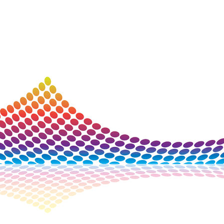 Abstract graphic equalizer or audio waveform illustration in vector format. Stock Vector - 5621517