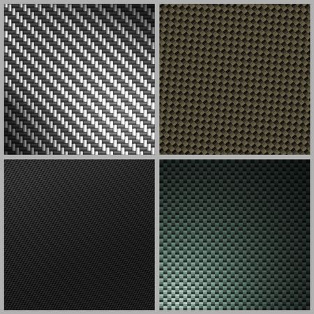 A collection of four different carbon fiber textures. Full size versions also available in my portfolio.