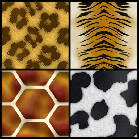 Conjunto de muestras de impresión de los animales que todos los azulejos perfectamente como un patrón. Foto de archivo - 5659165