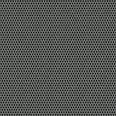 shiny metal background: A 3d illustration of a steel grate material. This image tiles seamlessly as a pattern. Stock Photo