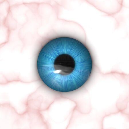 Eine Textur von einem blauen Auge mit vielen Details. Standard-Bild