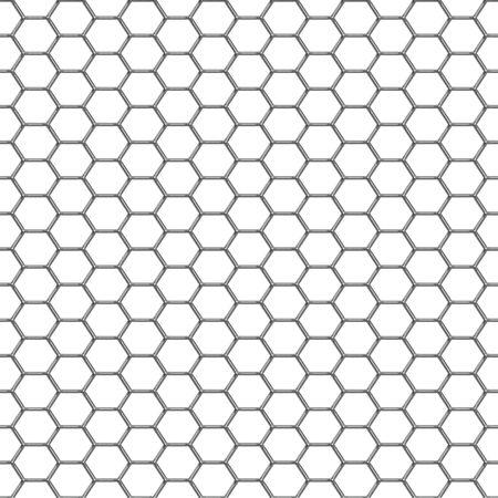 Un brillante cromada de la parrilla de fondo que los azulejos perfectamente como un patrón. Foto de archivo - 5710217