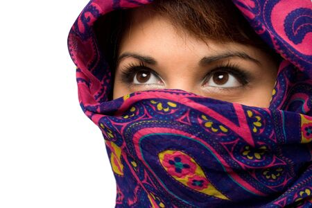 An attractive woman wearing a traditional head covering. Stock Photo - 5744092