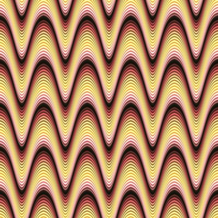 A funky seamless pattern with glowing wavy lines. photo