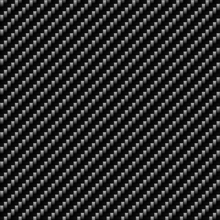 A realistic carbon fiber texture that tiles seamlessly in a pattern.  A very modern seamless texture for both print and web designs. Stock Photo