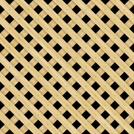 grille: Wooden lattice material that tiles seamlessly as a pattern in any direction. Stock Photo