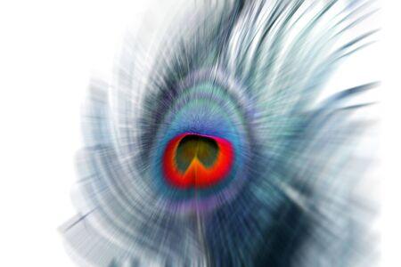 鮮やかな色と抽象的な孔雀の羽背景。