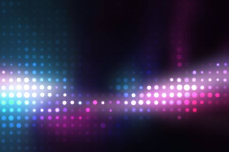 waveform: Glowing halftone dots in rows. A funky and modern looking background texture.