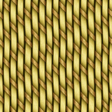 A yellow woven wicker material you might see in some furniture or a basket. This tiles seamlessly as a pattern in any direction. photo