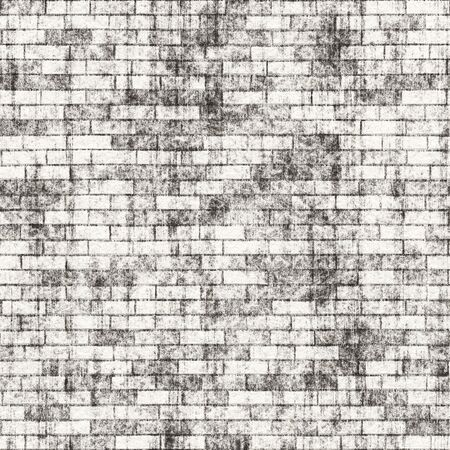 A grungy brick wall texture that tiles seamlessly as a pattern.