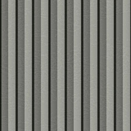 brushed aluminium: A ribbed silver metal texture that tiles seamlessly as a pattern. Stock Photo
