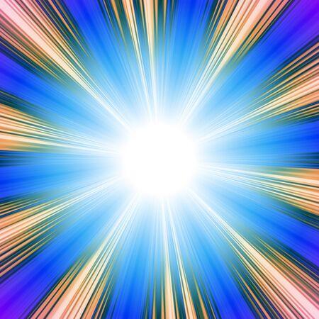A bright solar vortex illustration in a blue tone. illustration