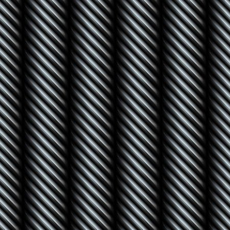 steel cable: A 3D steel metallic silver wire texture that tiles seamlessly as a pattern. Stock Photo