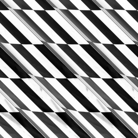 An abstract black and white geometric pattern with rectangular shaped boxes.