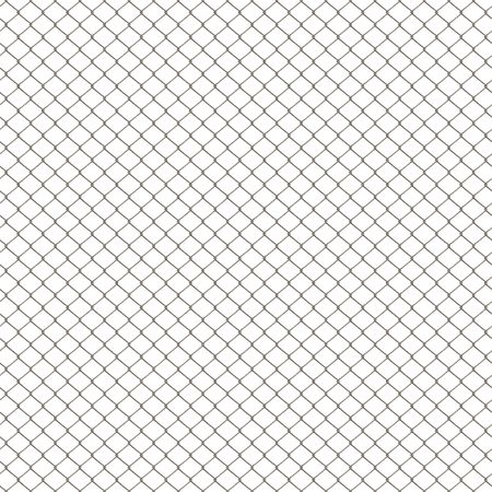 A 3D chain link fence texture isolated over white.  This tiles seamlessly as a pattern in any direction. Imagens - 6258517