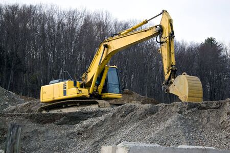 View of a construction site with heavy duty equipment. Stock Photo - 6285823