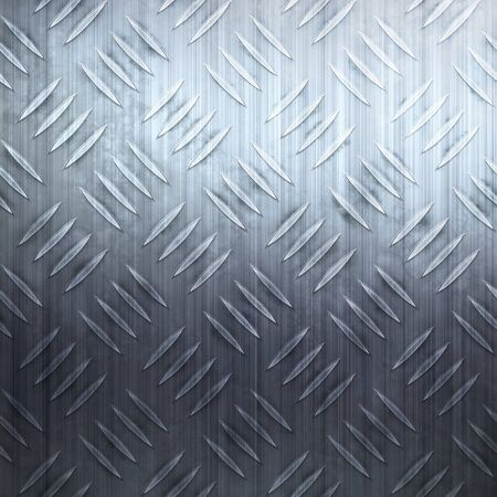 Worn diamond plate metal texture in a cool blue hue. photo
