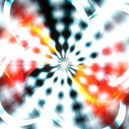 A bright abstract vortex illustration that radiates from the center. Stock Illustration - 6285907