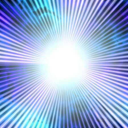 A bright solar vortex illustration in a blue tone. Stock Illustration - 6285840
