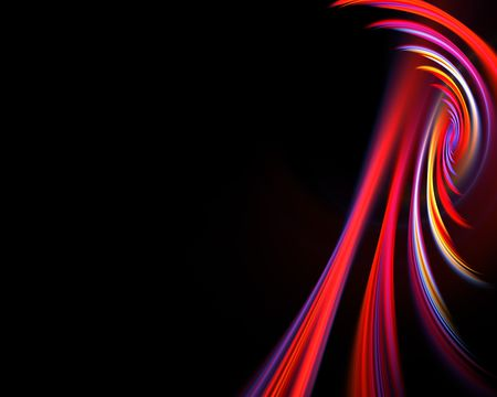 swooshes: A glowing fractal design that works great as a background or backdrop.