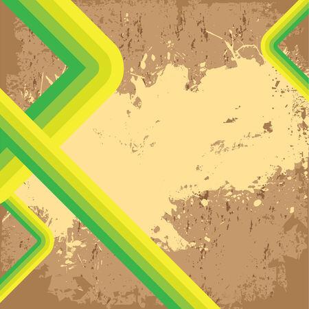 nicked: Dise�o de vector con una textura desgastada grungy de estilo retro.  Vectores