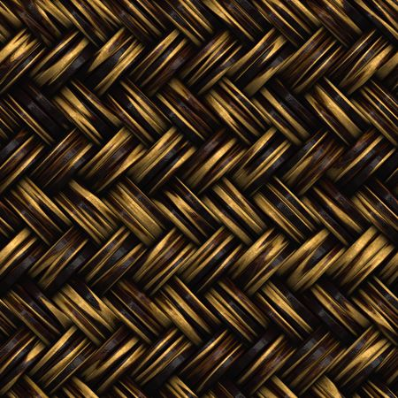 wood craft: A seamless 3D wicker basket or furniture texture that tiles as a pattern in any direction.