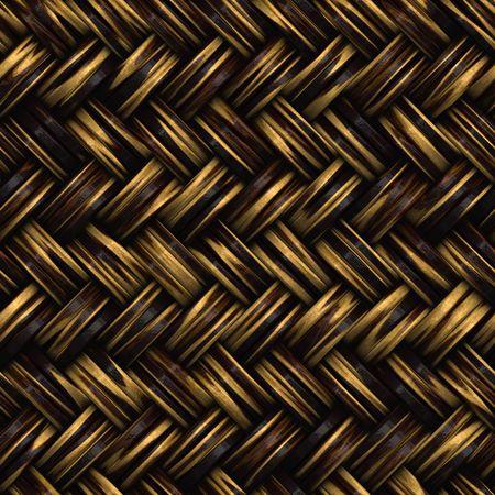 Een naadloze 3D rieten mand of meubels textuur die naast elkaar weer gegeven als een patroon in de gewenste richting.