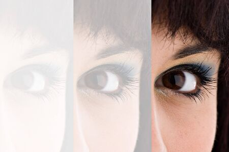 Closeup montage of an attractive young womans eye with copyspace. Stock Photo - 6425702