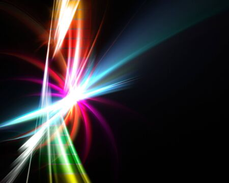 A glowing rainbow fractal design that works great as a background or backdrop. photo
